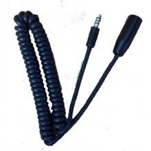 Helicopter Headset / Helmet Extension Lead (Coiled)