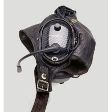 Gibson & Barnes Leather Flying Helmet (For DC H10 Series Headsets)