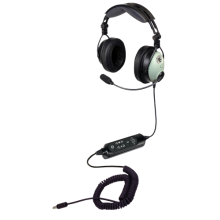 David Clark DC One-XH ANR Headset  (U174 Helicopter Plug and Coiled Cord)