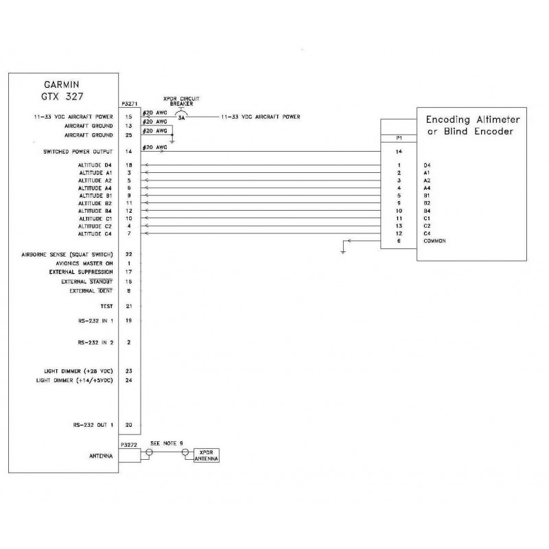 GTX327 Wiring Diagram 1 800x800 avionics wiring diagrams mike aircraft wiring diagrams \u2022 wiring aircraft intercom wiring diagram at bayanpartner.co