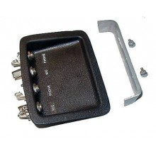 Headset Jack Housings - 2 Mic / 2 Phone - GA - Recessed