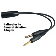 Avcomm P2005 Headset Adapter Heli to GA