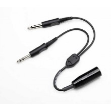 Pilot USA Dual Microphone Y-Adapter (2 ft)