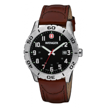 Wenger Grenadier Watch Brown Leather Strap