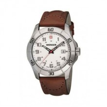 Wenger Alpine Lady Watch Brown Leather Strap