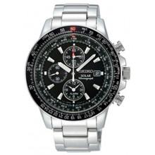 Seiko Alarm Chronograph Pilot's Watch - SS - Solar