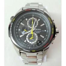 Seiko Alarm Chronograph Pilot's Watch - SS