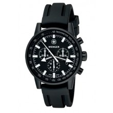 Wenger Commando Watch, Black, Silicon Strap