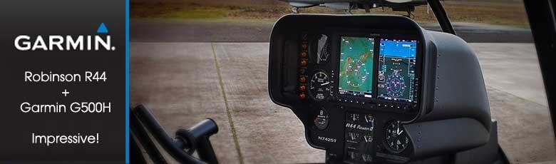 Robinson R44 with Garmin G500 Retrofit