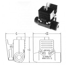 Nexus TJS102 Helicopter Headset Connector with PTT Switch