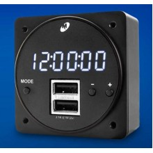Mid Continent MD93 Digital Clock with Dual USB Charging Port