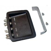 Headset Jack Housings - 2 Mic / 2 Phone - GA - Recessed
