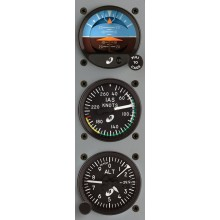 Mid Continent 2 inch Standby Instrument Package