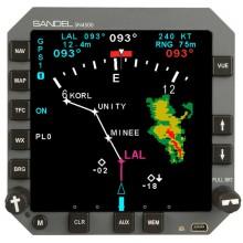 Sandel SN4500 4ATI Primary Navigation Display